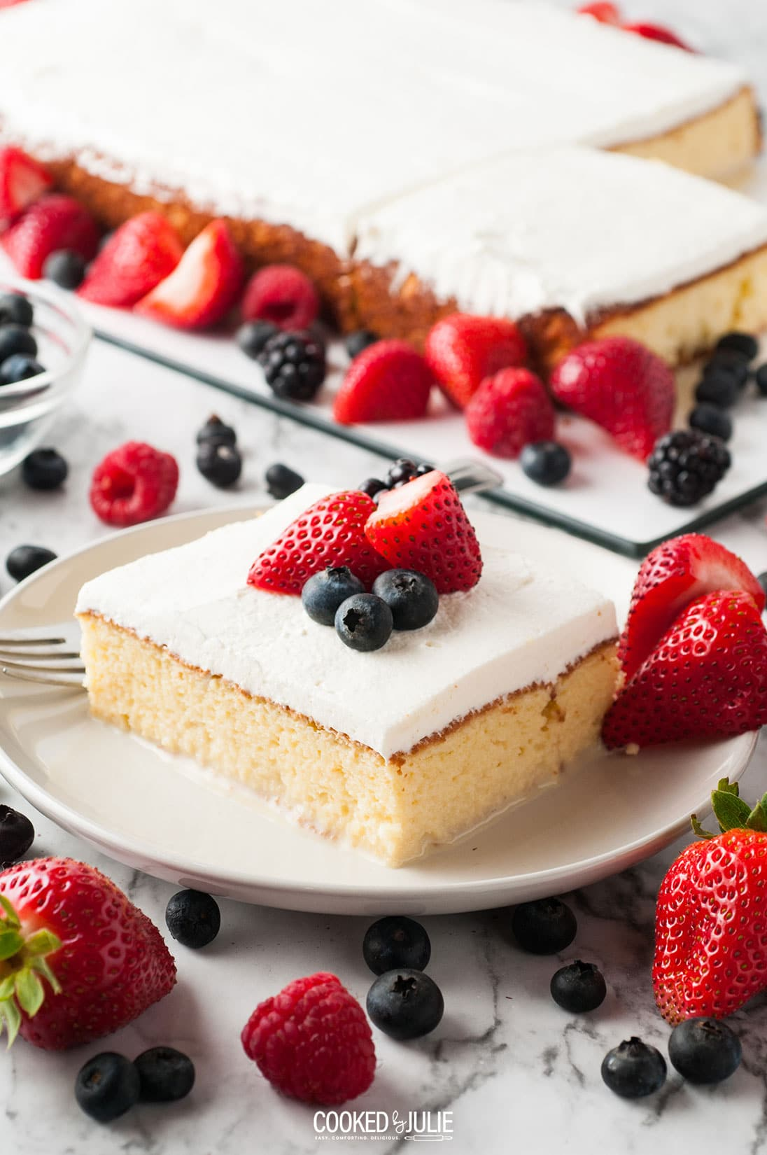 Superb Pastel De Tres Leches Cake Video Cooked By Julie Funny Birthday Cards Online Kookostrdamsfinfo